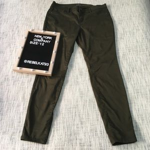New York & Company Slim Leg green jeans Size 12